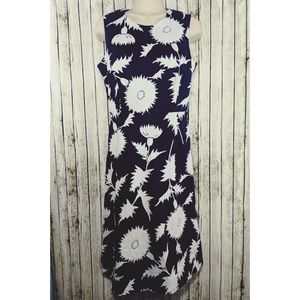 Isaac Mizrahi Navy floral shift dress - S